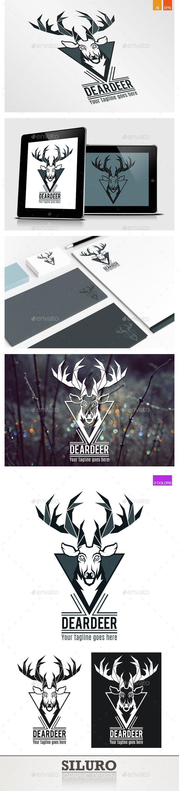 Dear Deer Logo - Animals Logo Templates