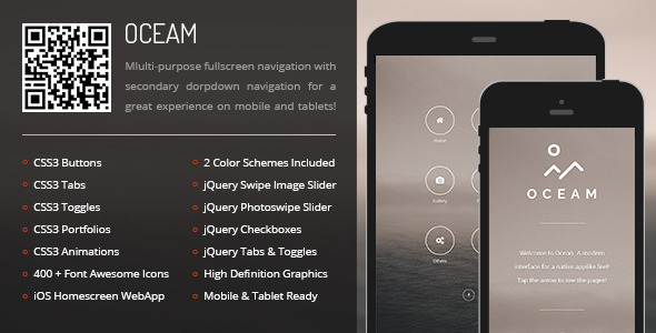 Oceam Mobile | Mobile Template - Mobile Site Templates
