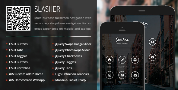 Slasher Mobile | Mobile Template - Mobile Site Templates