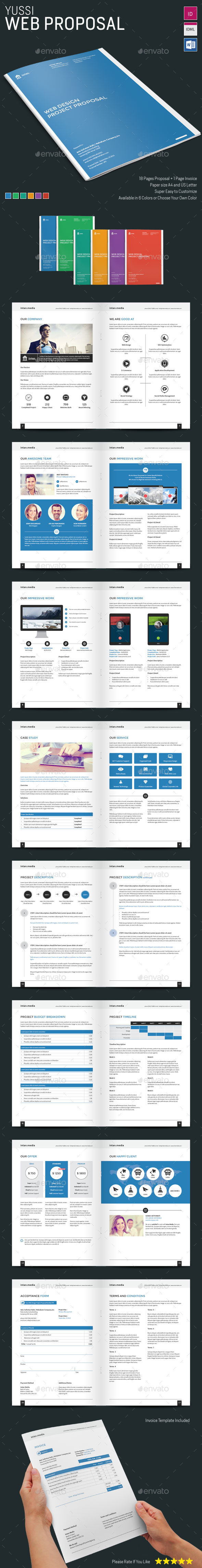 Yussi - Web Proposal - Proposals & Invoices Stationery