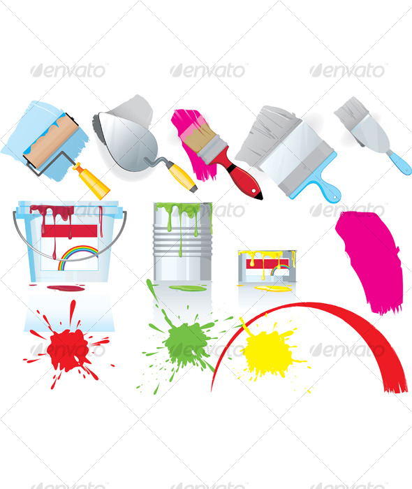 Paint and tools - Miscellaneous Vectors