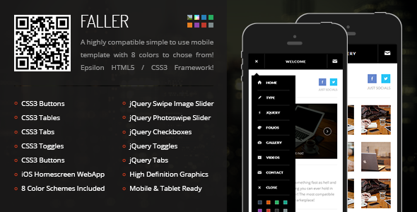 Faller Mobile | Mobile Template - Mobile Site Templates