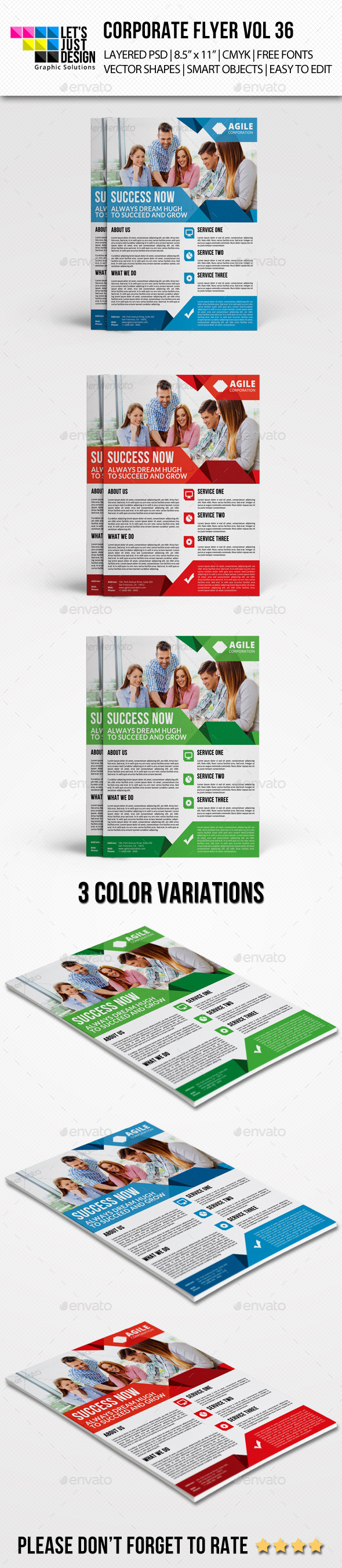 Corporate Flyer Template Vol 36 - Corporate Flyers
