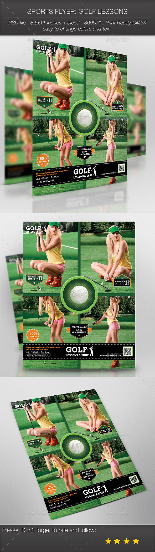 Sports Flyer: Golf Lessons - Sports Events