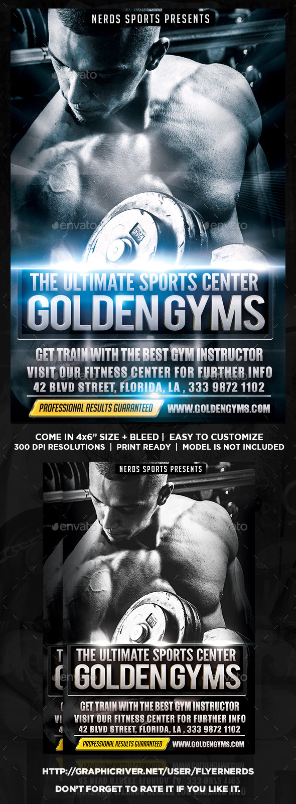 The Gym Sports Flyer