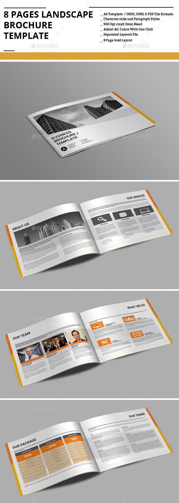 8 Pages Landscape sBrochure Template - Corporate Brochures