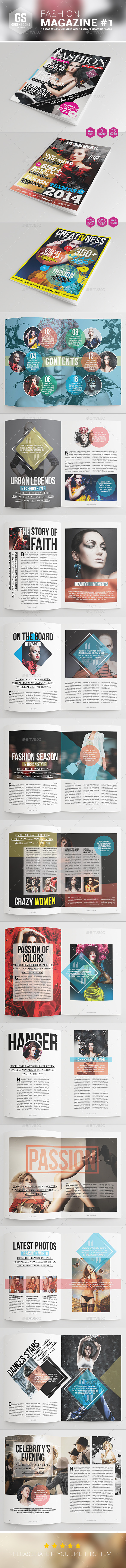 Fashion Magazine #1 - Magazines Print Templates