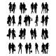 Silhouettes of Couples . Vector illustration - GraphicRiver Item for Sale
