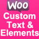Woocommerce Custom Text and Elements