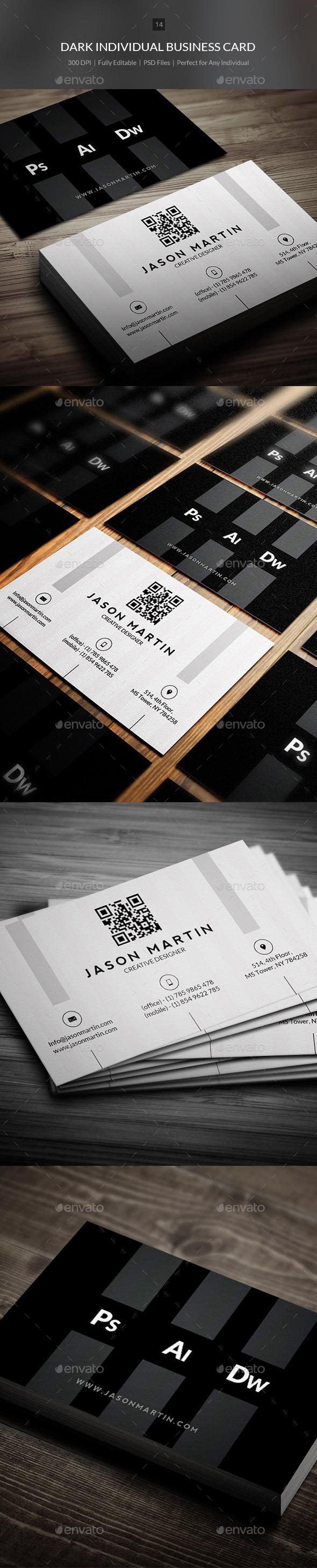 Dark Corporate Business Card - 14 - Creative Business Cards