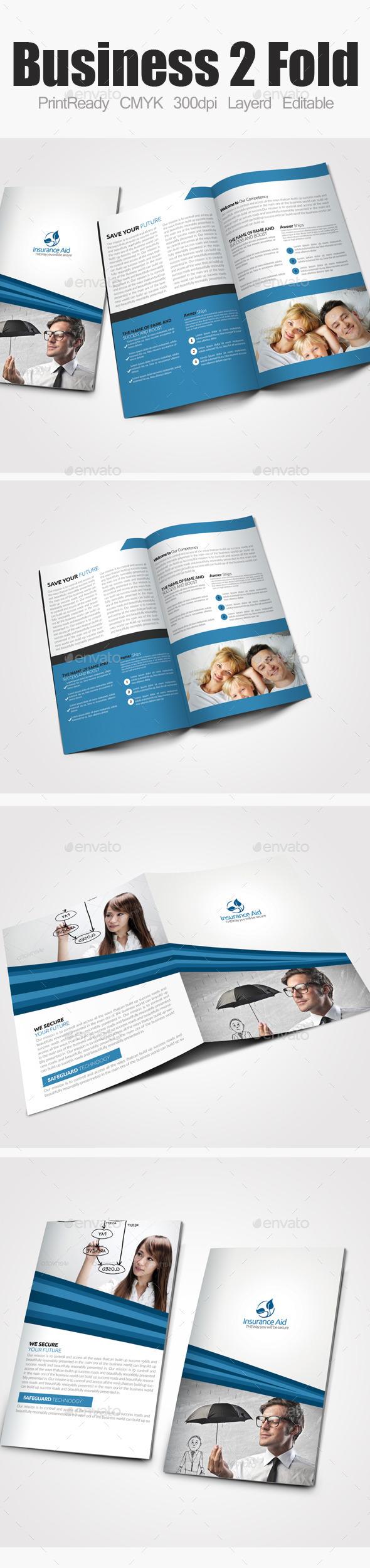Insurance Corporate Bi Fold Brochure - Corporate Brochures