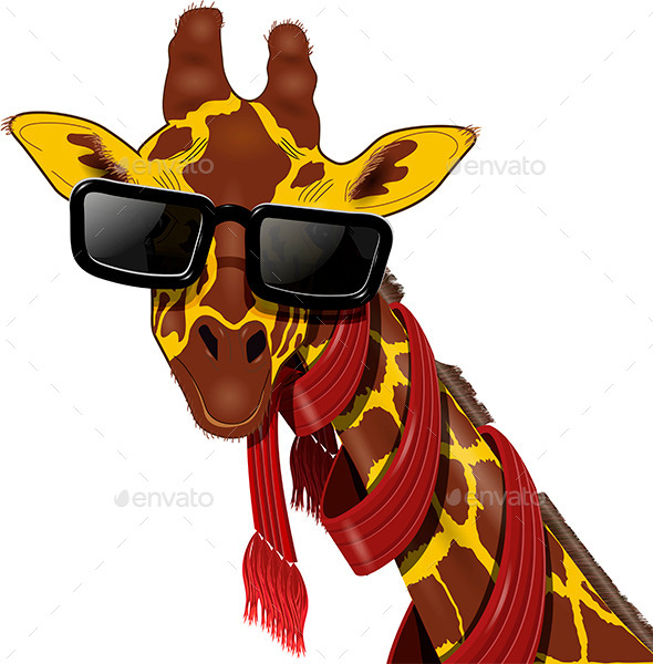 Giraffe in Sunglasses - Animals Characters