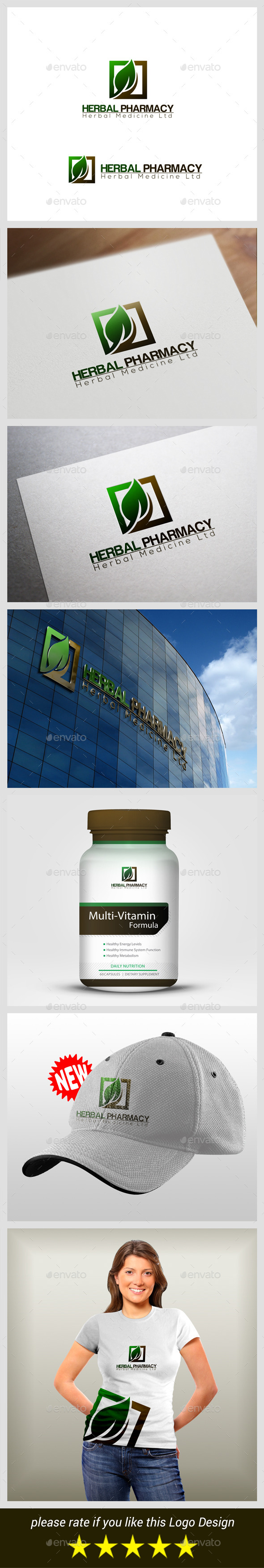 Herbal Pharmacy - Nature Logo Templates