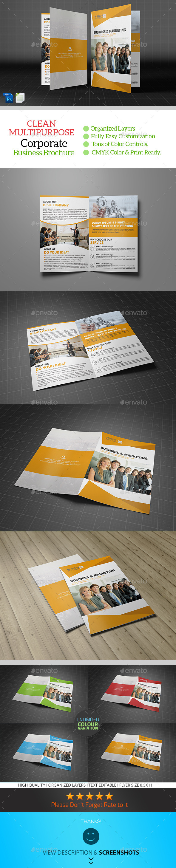 Corporate Bifold Brochure Template Vol03 - Corporate Brochures