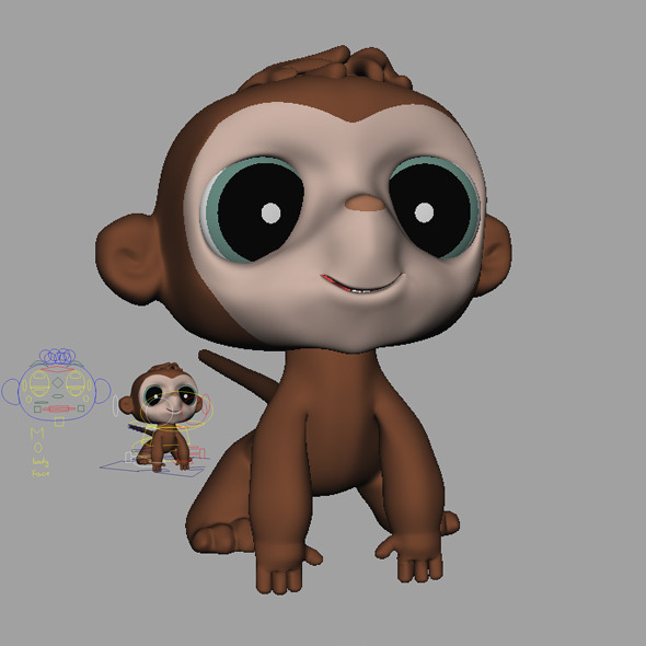 Monkey - 3DOcean Item for Sale