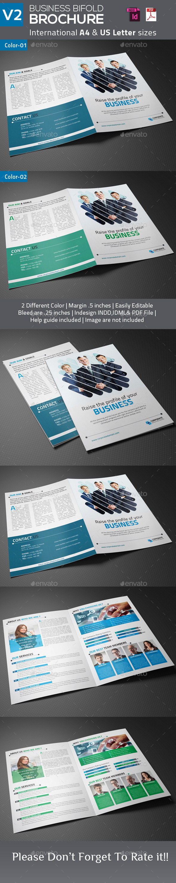 Business Bifold Brochure V2 - Corporate Brochures