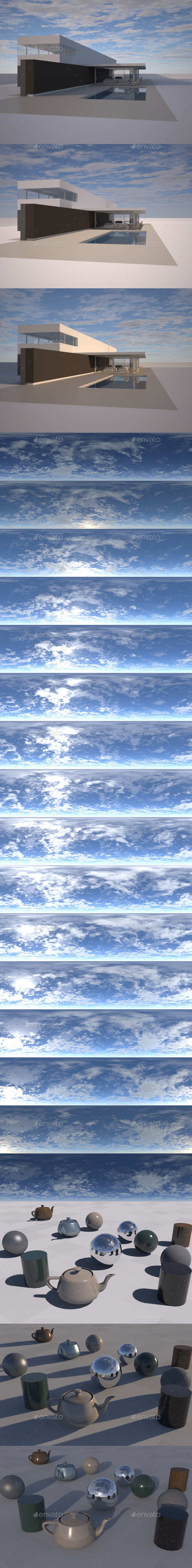 Sky with Clouds Pack - Timelapse 16 EXR/HDR pics - 3DOcean Item for Sale
