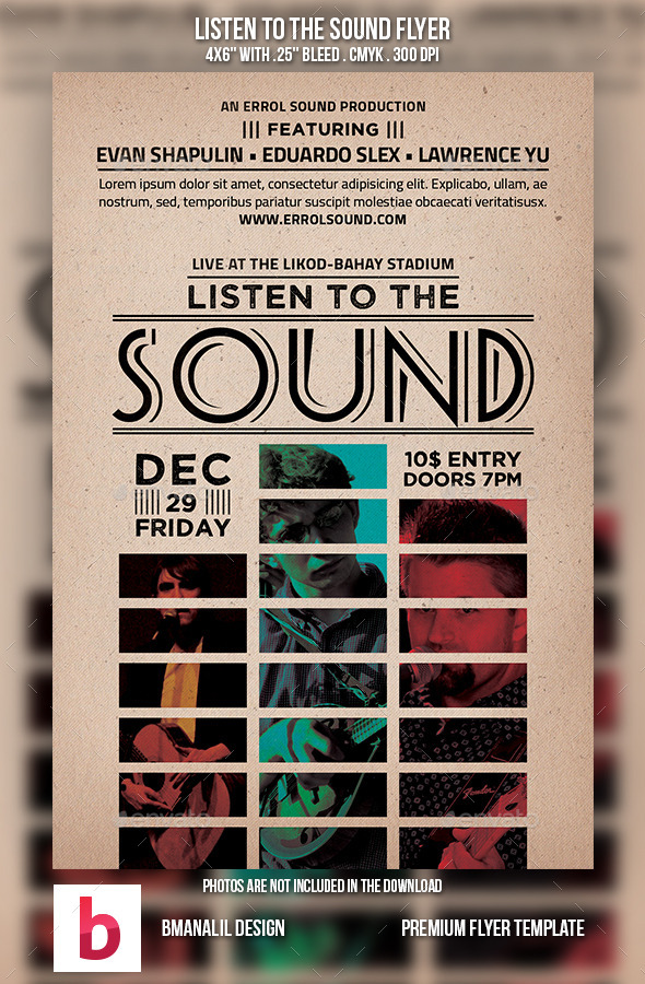 Listen to the Sound Flyer - Concerts Events