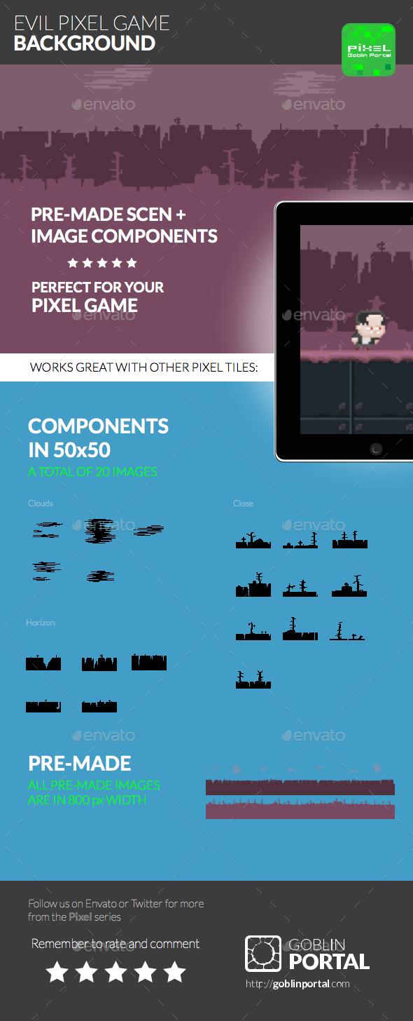 Evil Pixel Game Background - Backgrounds Game Assets