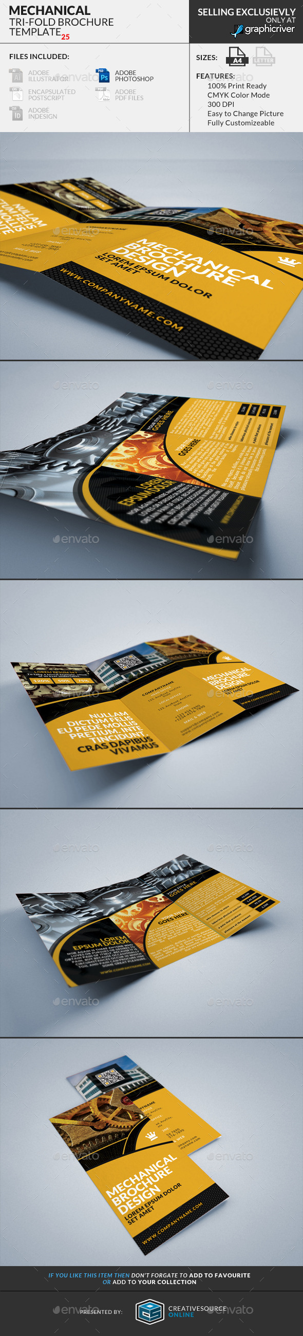 Trifold Brochure 25 : Mechanical - Corporate Brochures