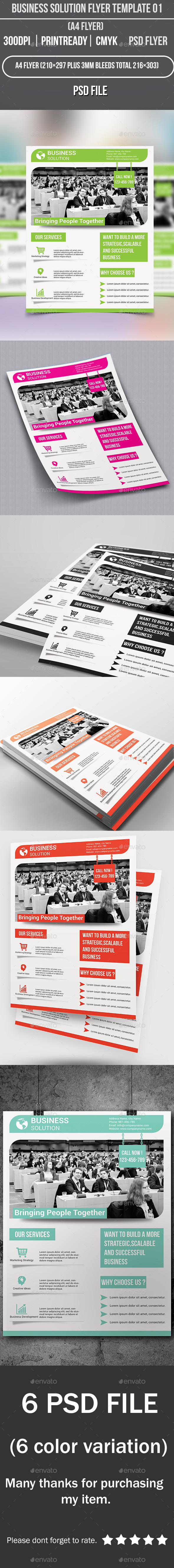 Business Solution Flyer Template 01 - Corporate Flyers