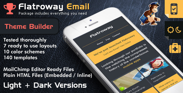 Responsive Email Template FlatroWay – Metro & Flat