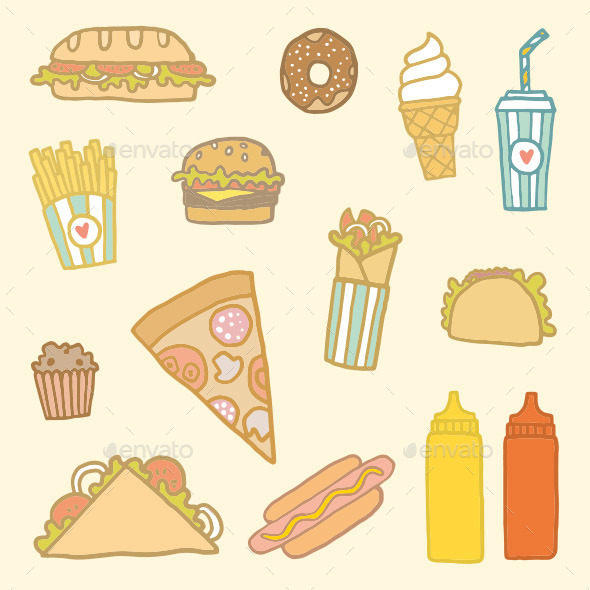 Fastfood Set - Food Objects