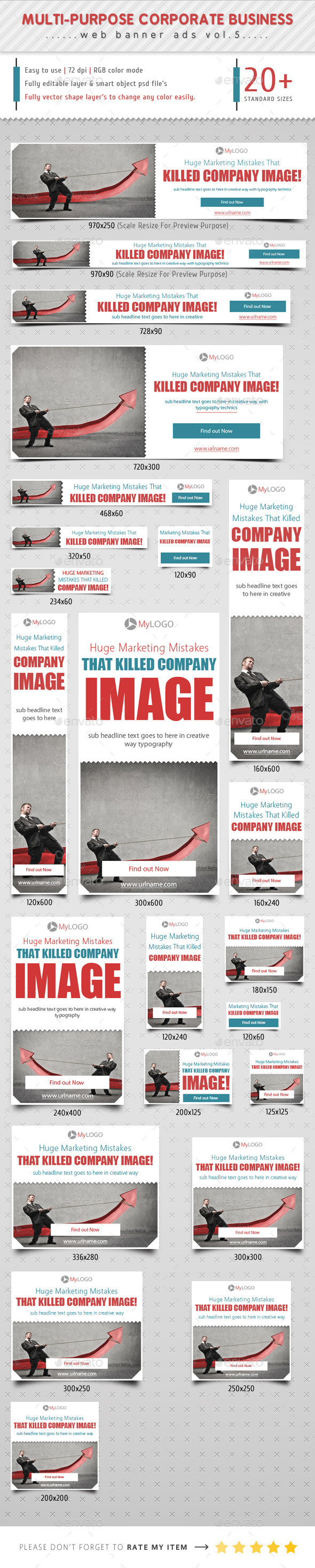 Corporate Web Banner Ads Vol.5 - Banners & Ads Web Elements