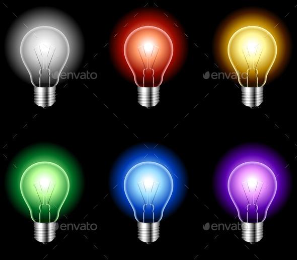 Light Bulbs - Objects Vectors