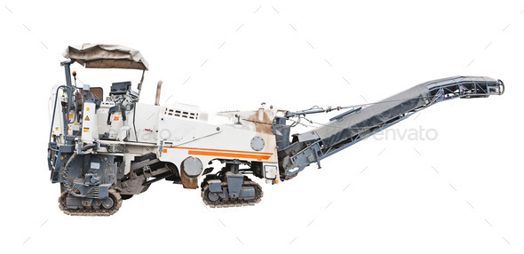 Road milling machine - Stock Photo - Images