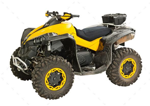 Yellow quadbike - Stock Photo - Images