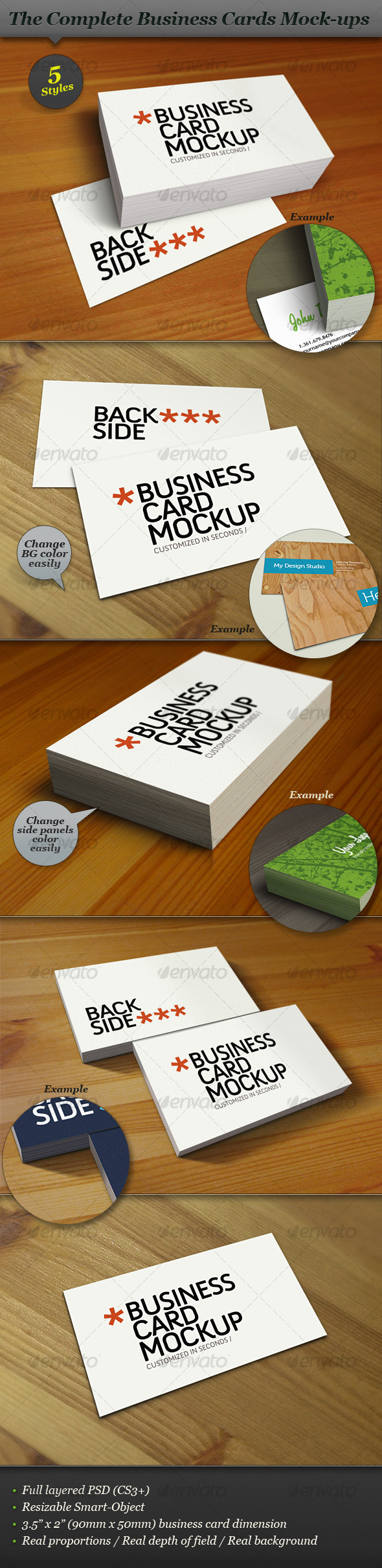 Business Card Mock-up Smart Template Pack - Business Cards Print