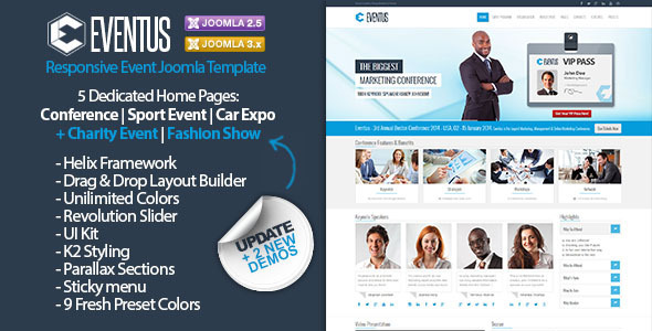 eventus responsive event joomla template by dhsign themeforest. Black Bedroom Furniture Sets. Home Design Ideas