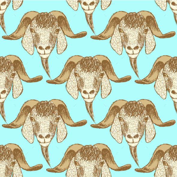 Goat Head Background - Animals Characters