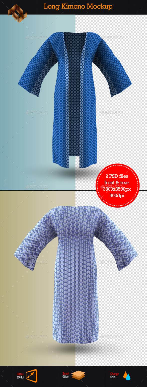 Long Kimono Mockup - Miscellaneous Apparel