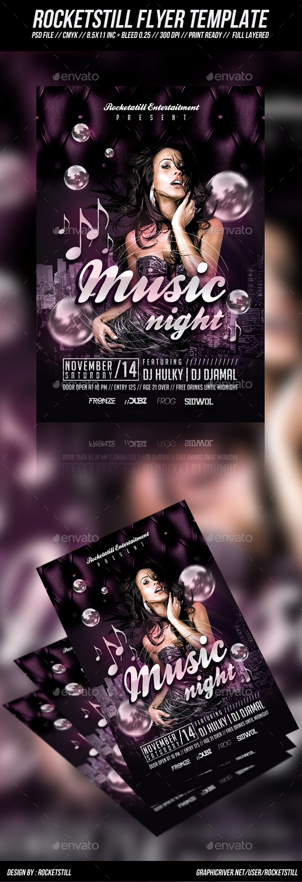 Plurz Flyer - Clubs & Parties Events