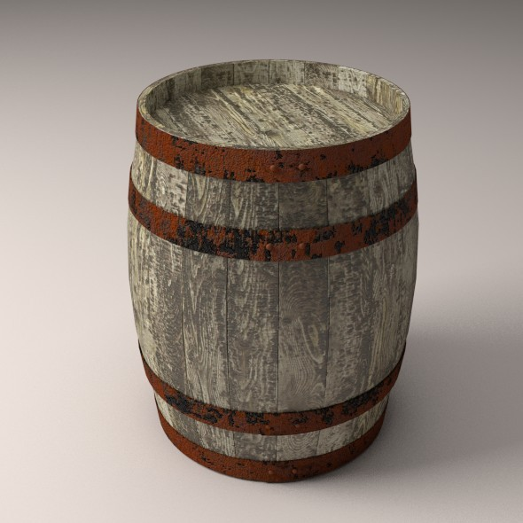 Old Wooden Barrel - 3DOcean Item for Sale