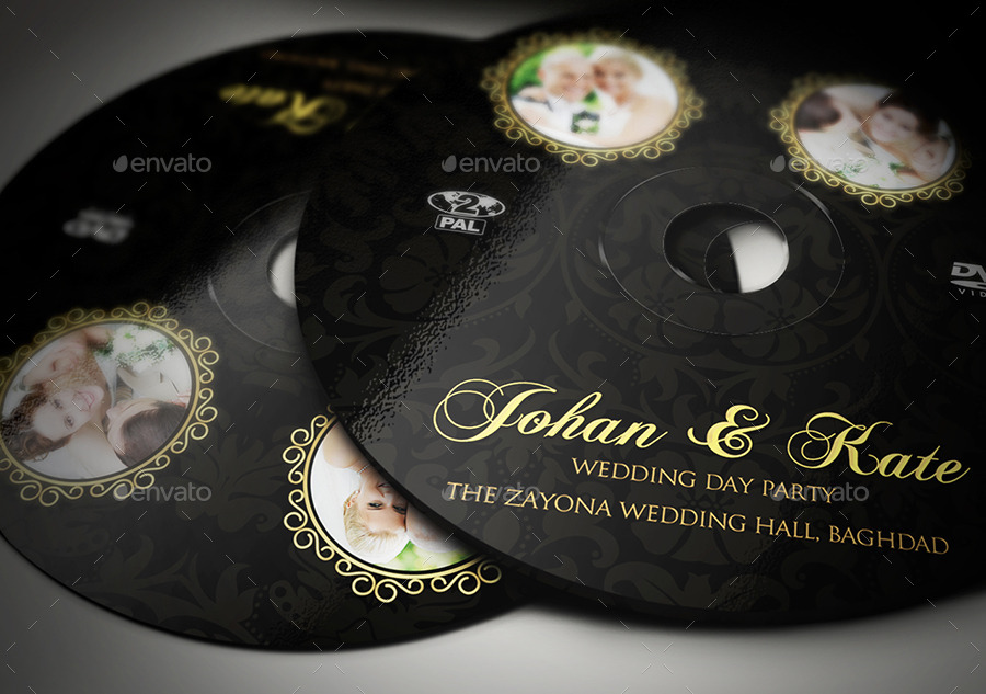 Wedding Dvd Cover And Dvd Label Template Vol.3 By Owpictures