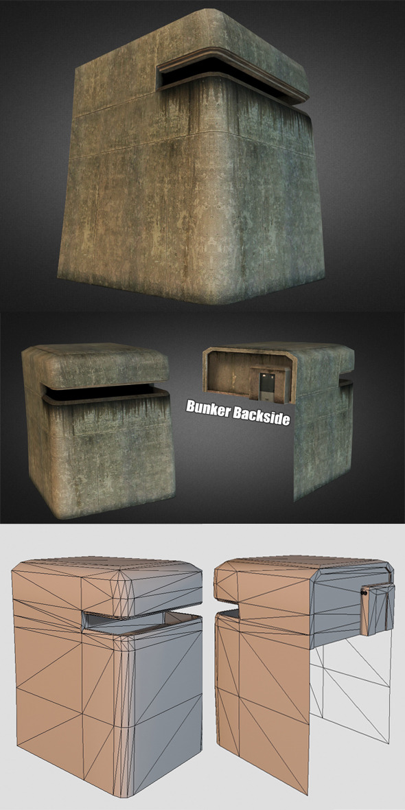 Beachhead Bunker - 3DOcean Item for Sale
