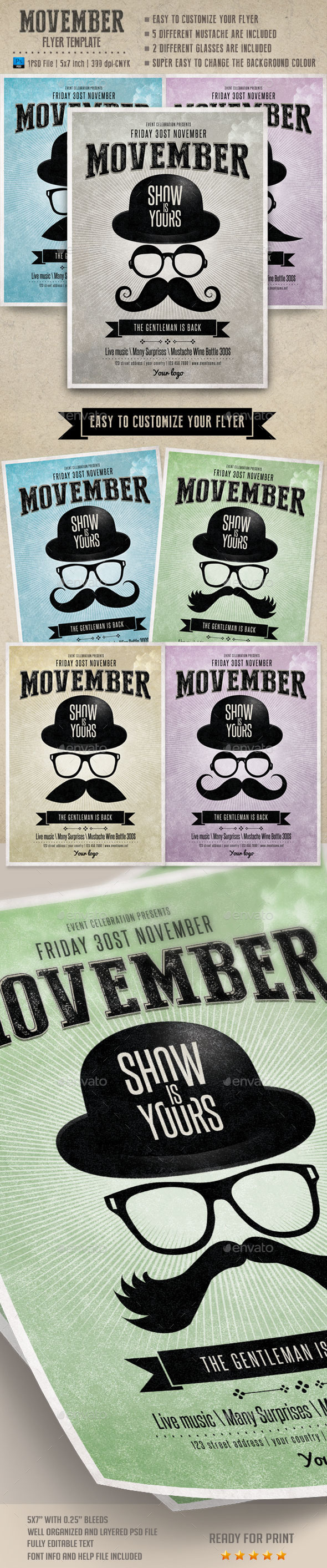 Movember Flyer Template - Events Flyers