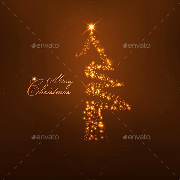Christmas Tree from Light  - Christmas Seasons/Holidays
