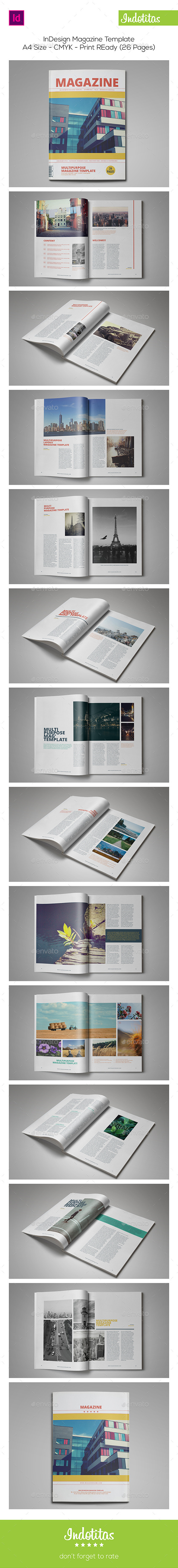 26 Pages InDesign Magazine Template
