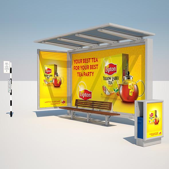 Dubai Media City Bus Stop - 3DOcean Item for Sale