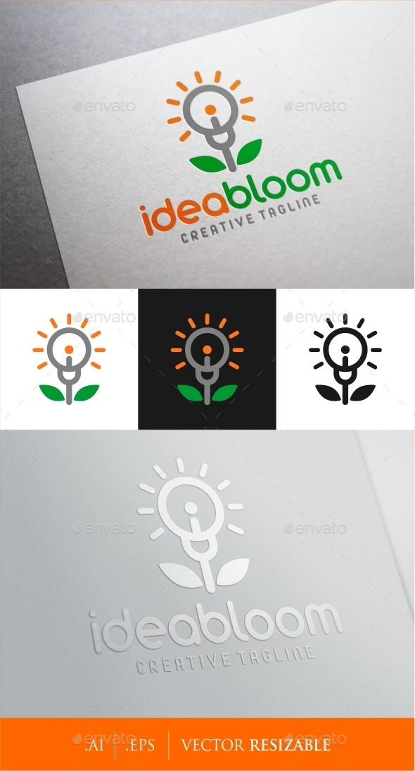 Idea Bloom Logo - Objects Logo Templates