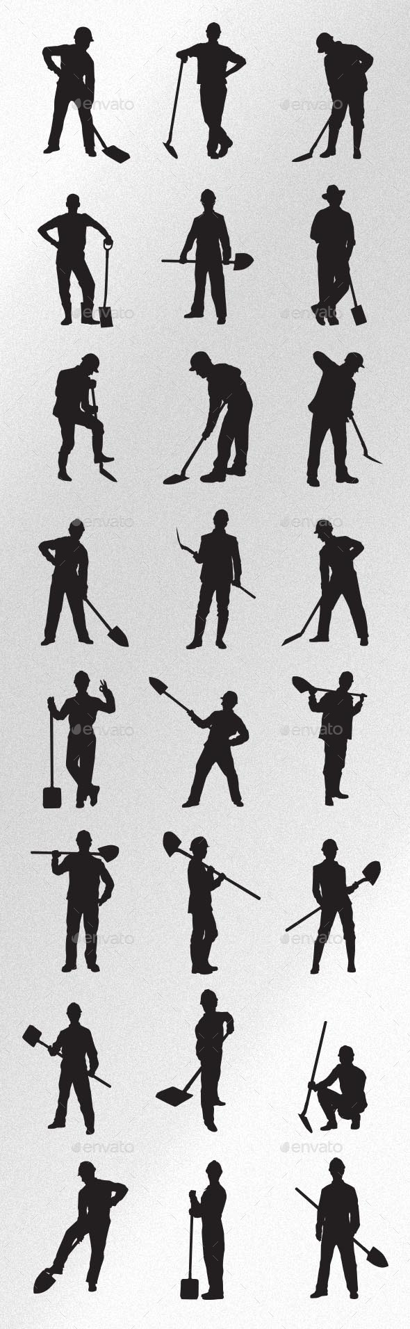 Worker with Spade - People Characters