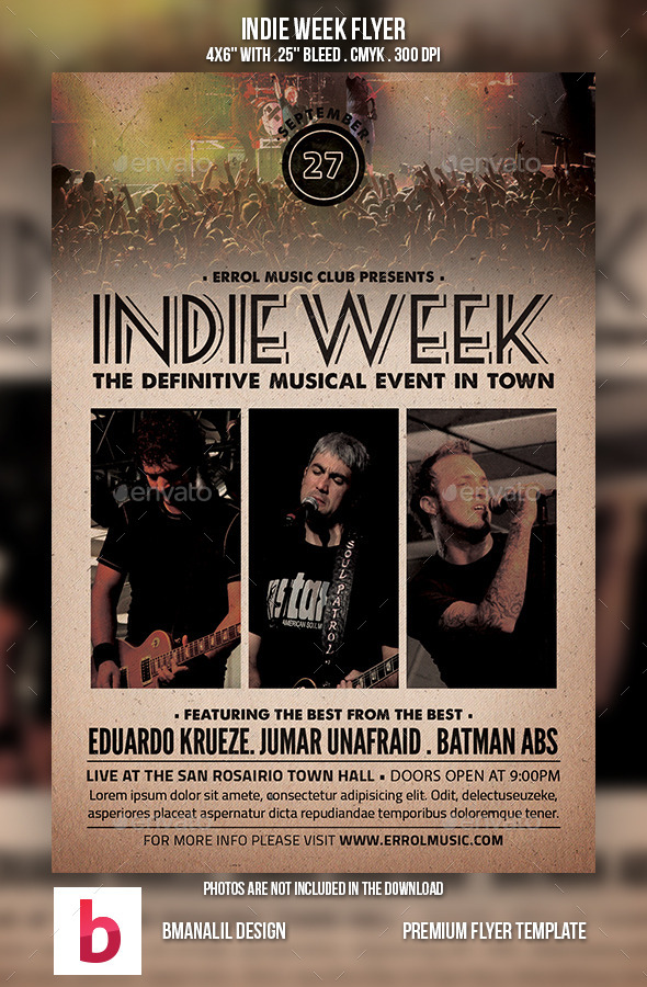Indie Week Flyer - Events Flyers