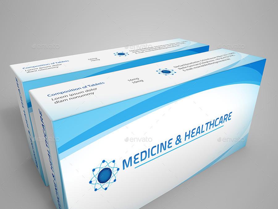 Medicine Box Mockup By Graphickey Graphicriver