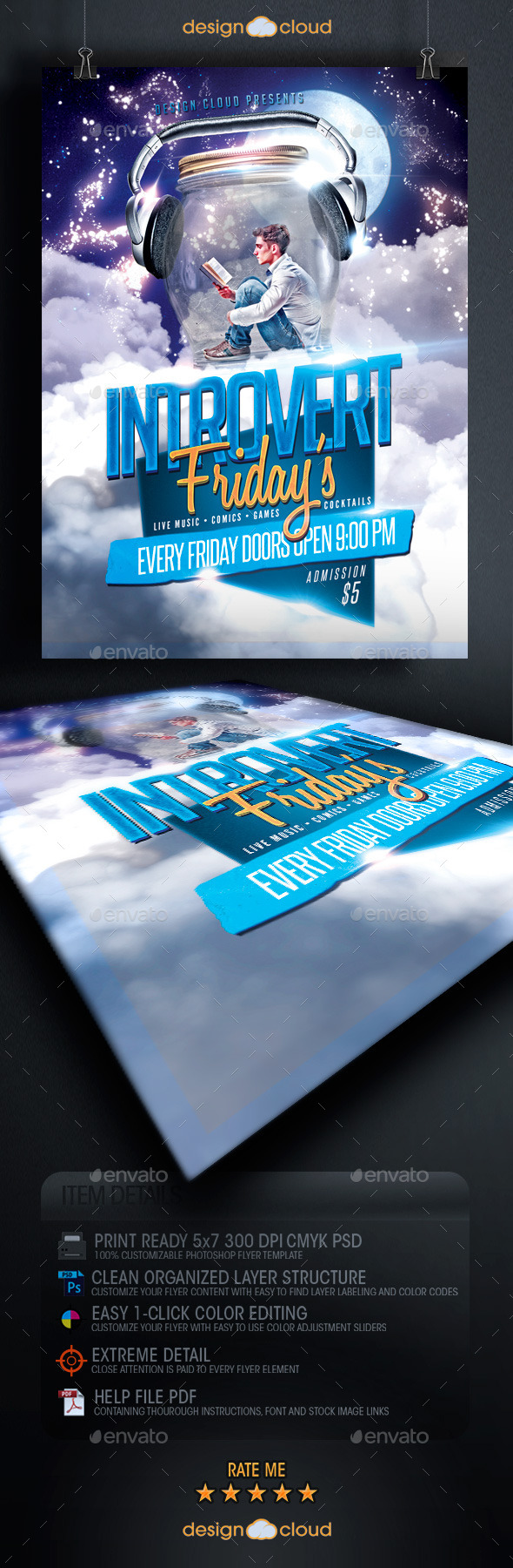 Introvert Fridays Flyer Template - Clubs & Parties Events
