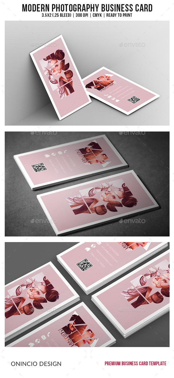 Modern Photography Business Card - Industry Specific Business Cards