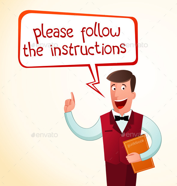 Give An Instruction - People Characters